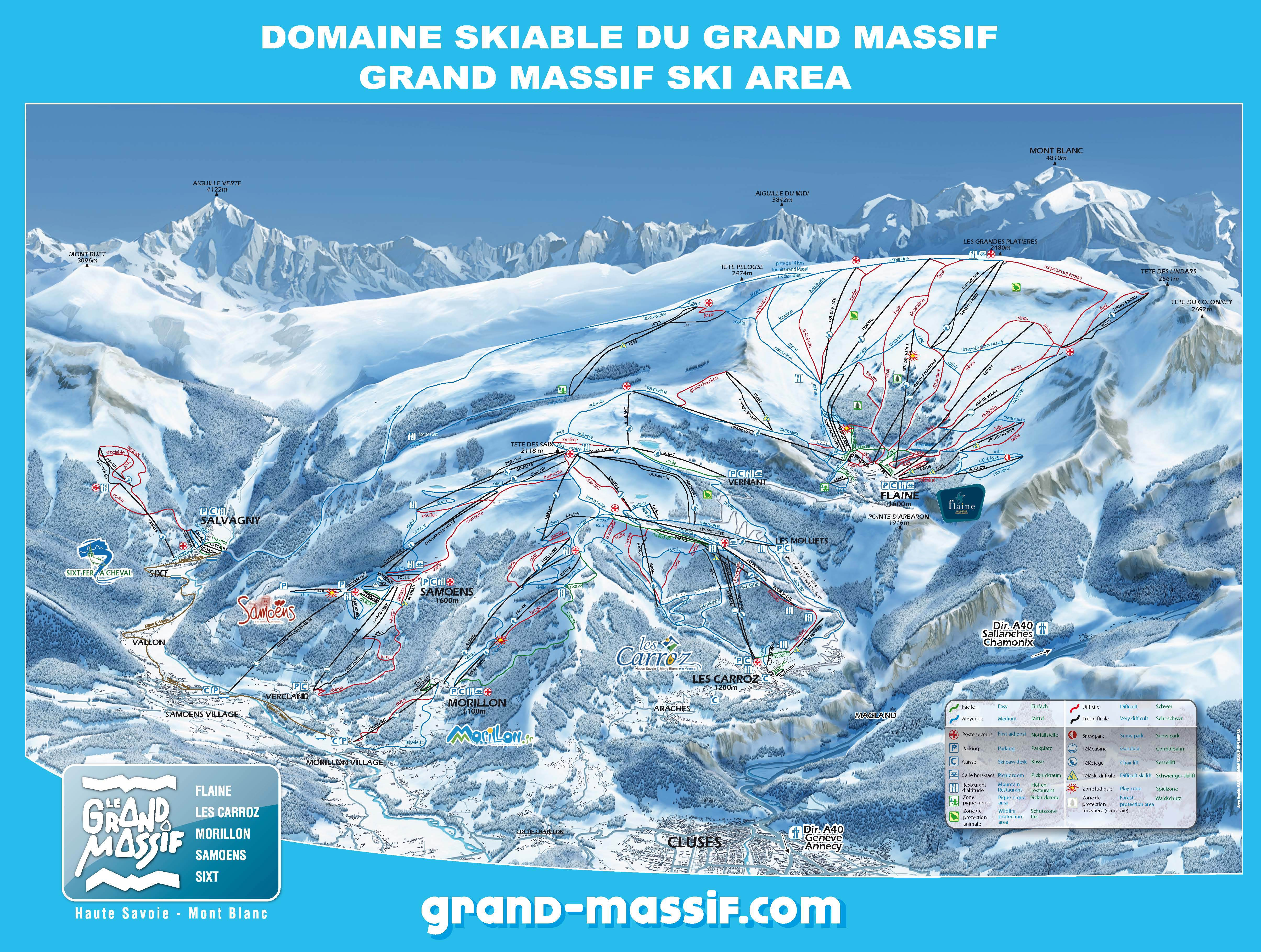 Map of the pistes in Flaine: prepare for your skiing holiday